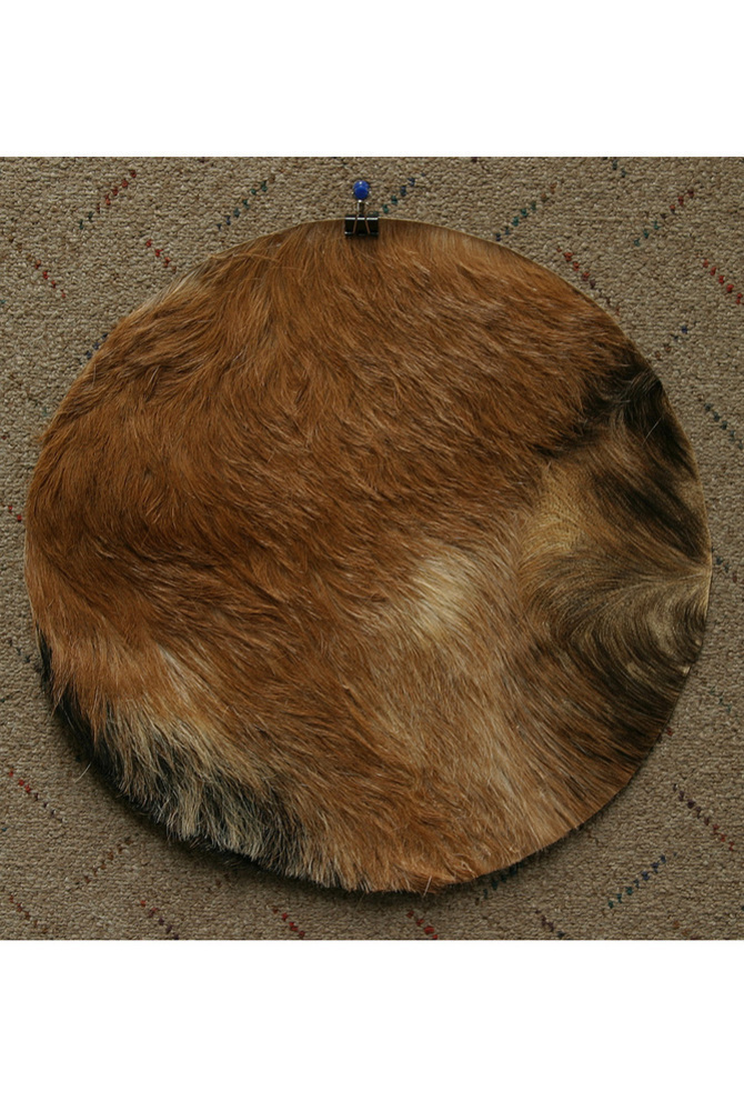 "Mid-East Goatskin w/ Hair 16"" - Medium *Blemished"
