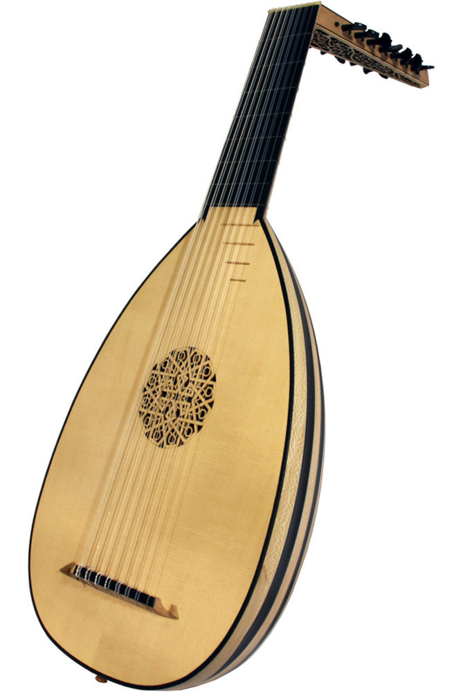 Roosebeck Deluxe 8-Course Lute - Ebony