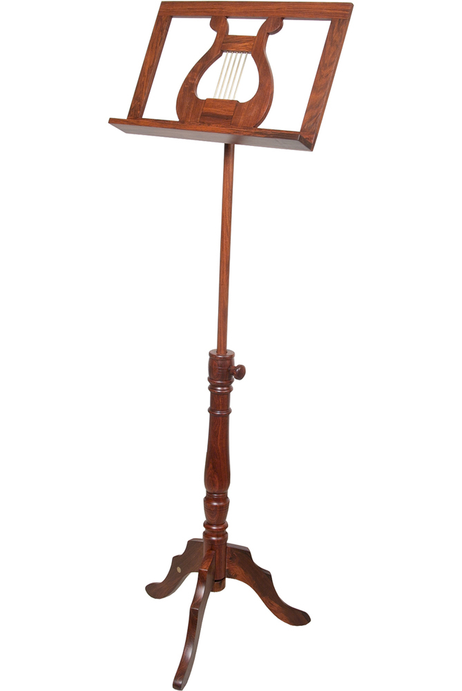EMS King Albert Music Stand w// Double Tray Solid Red Cedar