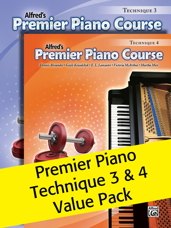 Alfred Music Alfred's Premier Piano Course: Technique 3 & 4, Value Pack