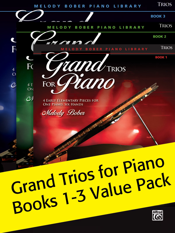 Alfred Music Grand Trios for Piano: Books 1-3, Value Pack