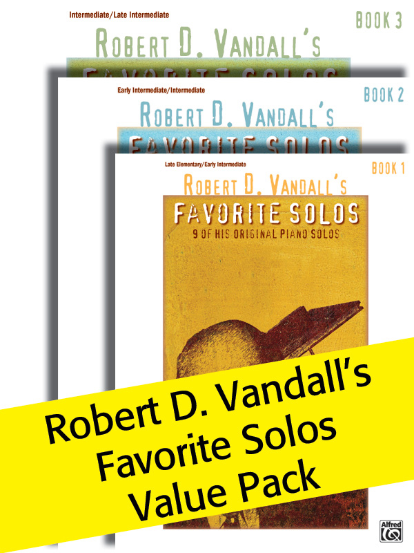 Alfred Music Robert D. Vandall's Favorite Solos: Books 1-3