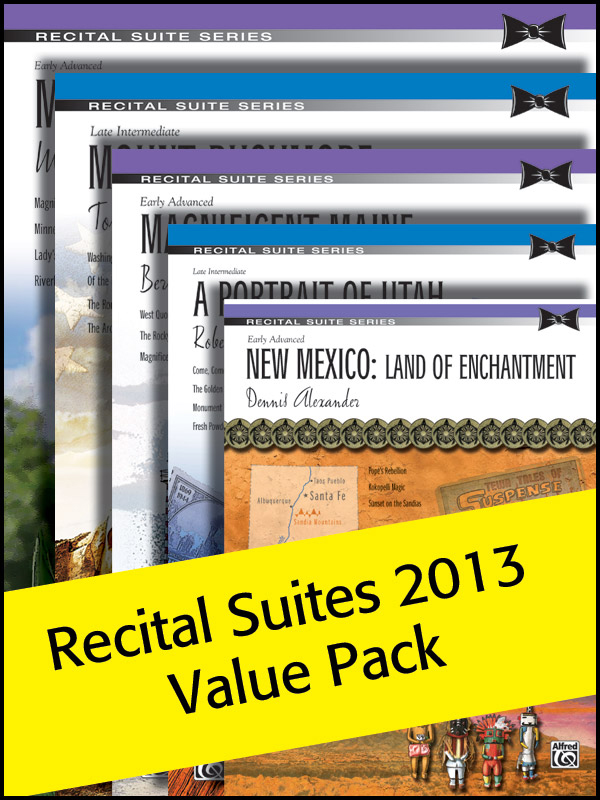 Alfred Music Alfred's Recital Suites: Value Pack 2013