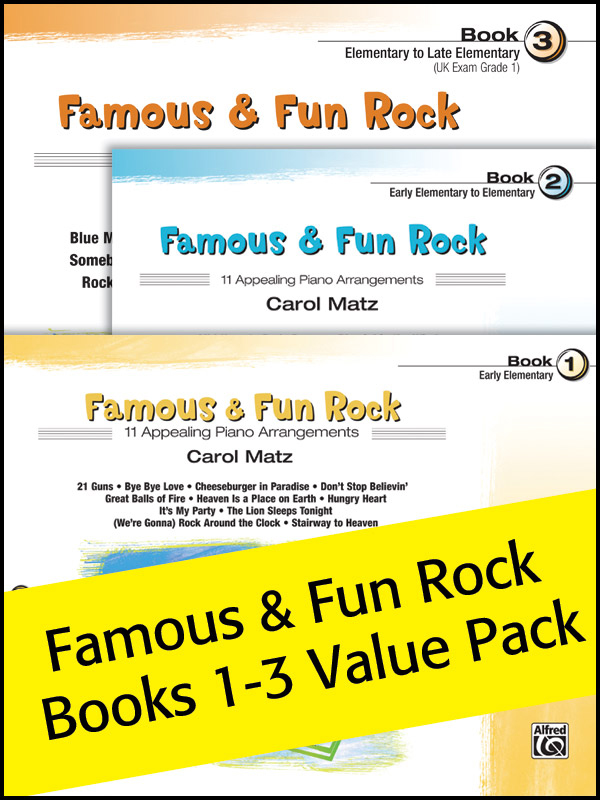 Alfred Music Famous & Fun Rock: Value Pack