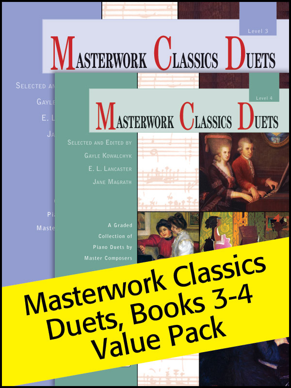 Alfred Music Masterwork Classics Duets: Levels 3-4, Value Pack