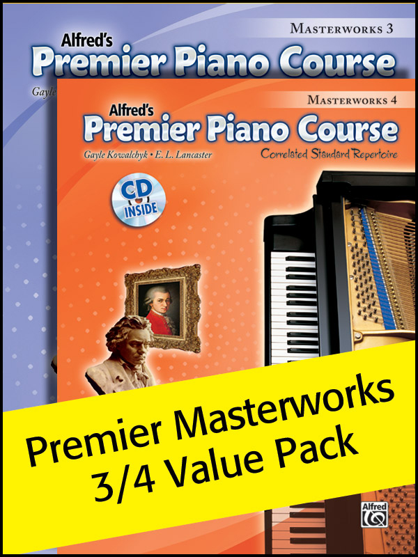 Alfred Music Premier Piano Course: Masterworks, Books 3-4 Value Pack