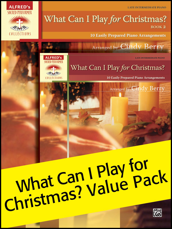 Alfred Music What Can I Play for Christmas: Book 1 & 2, Value Pack