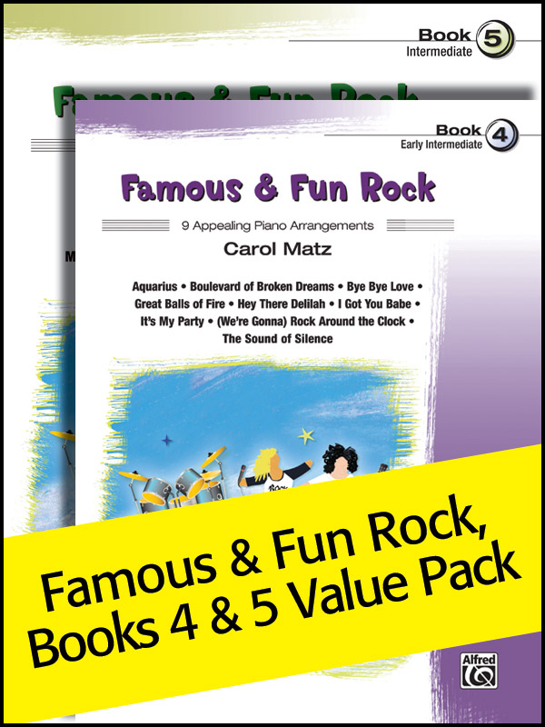Alfred Music Famous & Fun Rock, Books 4-5: Value Pack