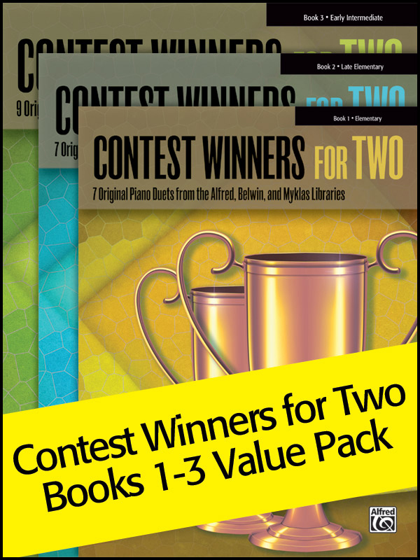 Alfred Music Contest Winners for Two, Books 1-3: Value Pack