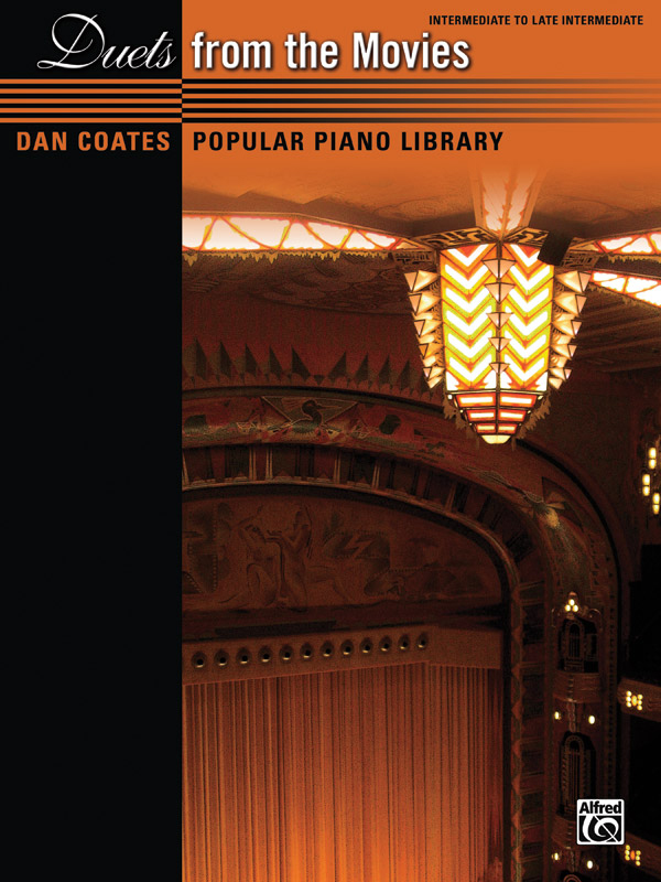 Alfred Music Dan Coates Popular Piano Library: Duets from the Movies