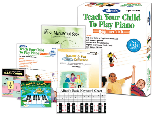 Alfred Music Alfred's Teach Your Child to Play Piano: Beginner's Kit