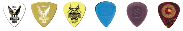 Steve Clayton™ Pick Test Pack, Medium, 6 Pieces