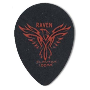 Steve Clayton™ Black Raven Pick: Small Teardrop, 1.00mm, Pack of 12