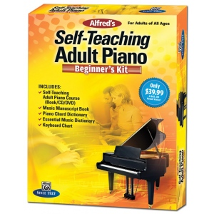 Alfred Music Alfred's Self-Teaching Adult Piano: Beginner's Kit