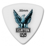 Steve Clayton™ Acetal/Polymer Pick: Rounded Triangle, .50mm, Pack of 72