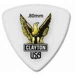 Steve Clayton™ Acetal/Polymer Pick: Rounded Triangle, .80mm, Pack of 12