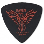 Steve Clayton™ Black Raven Pick: Rounded Triangle, .38mm, Pack of 12