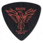 Steve Clayton™ Black Raven Pick: Rounded Triangle, .63mm, Pack of 12