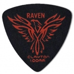 Steve Clayton™ Black Raven Pick: Rounded Triangle, 1.00mm, Pack of 12
