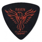 Steve Clayton™ Black Raven Pick: Rounded Triangle, 1.26mm, Pack of 12