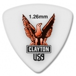 Steve Clayton™ Acetal/Polymer Pick: Rounded Triangle, 1.26mm, Pack of 12