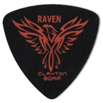 Steve Clayton™ Black Raven Pick: Rounded Triangle, .80mm, Pack of 12