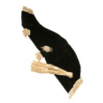 Roosebeck Miniature Bagpipe Cover and Cord - Black Velvet