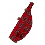 Roosebeck Miniature Bagpipe Cover and Cord - Red Tartan