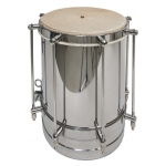 DOBANI Nickel Plated Brass Cuica w/ Goatskin Head 8""