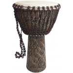 "Mid-East Rope Tuned Sheesham Djembe w/ Goatskin Head 12""x22"" - Hewn"