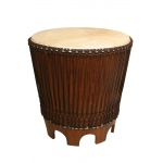 "Mid-East Sheesham End Drum Table w/ Rope Tuned Natural Head 24""x26"""
