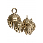 DOBANI Graduated Solid Brass Elephant Bells 5-Piece 1.5-to-3""