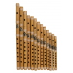 Nabi & Sons Cross Blown Bamboo Flute Set 13-Piece