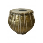 banjira Pro Embossed Brass Bayan Tabla - Bayan Only * Blemished