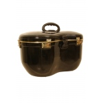 banjira Locking Fiberglass Case for Tabla Set - Black