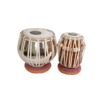 "Sajid Pro Tabla Set Heavy Nickel Plated Brass Bayan and 5.00"" Dayan"