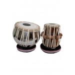 "Sajid banjira Pro Tabla Set Nickel Plated Brass Bayan and 5.50"" Dayan"